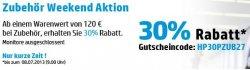 Zubehör Weekend Aktion im HP Onlineshop  – bis zu 70€ sparen + ab 120€ noch mal 30% mit Gutscheincode