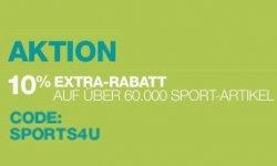 10% Extra-Rabatt mit Gutschein-Code auf Sportartikel @Amazon.de