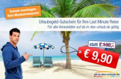 100 Euro ab-in-den-urlaub Gutschein für 10 Euro