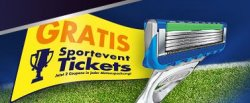 2 Sportevent Tickets gratis beim Kauf eines Gillette Klingen Vorteilspacks @Amazon.de
