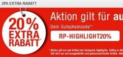 20% Extra-Rabatt auf alle RunnersPoint Highlight-Artikel (Schuhe etc.) mit Gutschein