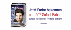 20% Sofort-Rabatt auf alle Schwarzkopf men PERFECT Artikel @Amazon