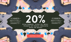 20% Zusatzrabatt auf bereits reduzierte Marken T-Shirts und Tops mit Gutscheincode im Frontlineshop