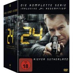 24 – Die komplette Serie & Redemption / 2. Auflage (DVD) 72,97 Euro (Idealo: 83,99 Euro)