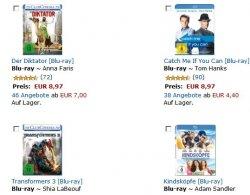 3 Blu-rays für 22 Euro inklusive Versand bei Amazon