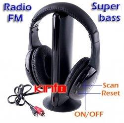 5in1 Funk Wireless Kopfhörer Headset für 18,73€ inkl. Versand @eBay.de [Versand aus China]