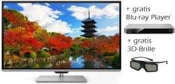 50″ 3D LED-Fernseher Toshiba 50L7363DG für nur 749€ + gratis Blu-ray-Player + gratis 3D-Brille