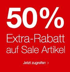 50% Extra-Rabatt auf bereits reduzierte Ware + 10% Newsletter Gutschein @SinnLeffers.de