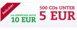 500 DVDs und CDs unter 5€ / 70 Blu-rays unter 7€
