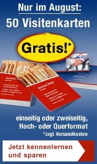 50x doppelseitige Visitenkarten kostenlos! @Lidl-Druckservice mit Gutscheincode