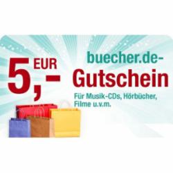 5€ + 10€ Gutscheine für Filme, Spiele, usw. @Buecher.de