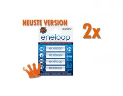 8 Sanyo eneloop Mignon AA Akkus für nur 13,49€ inkl. Versand  (Idealo 16,90€)@meinpaket