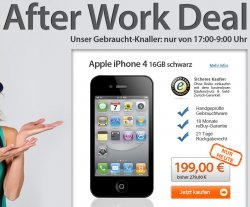 After Work Deal @reBuy! Heute iPhone 4 schwarz 16gb 197,99€