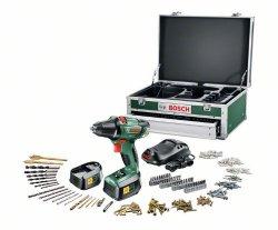 Akku-Bohrschrauber Bosch PSR 18 LI-2 mit großem Zubehörset, Koffer und 2 Akkus für 170,15 € (Idealo 235,90 €) @amazon
