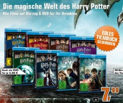 Alle Harry Potter Filme auf Blu-ray je 7,99€ oder DVD je 5,99€ @saturn.de