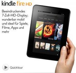 Amazon-Aktion: Kindle Fire HD kaufen und 50€ Amazon App Store Guthaben geschenkt bekommen