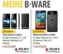 B-Ware zu günstigen Preisen neu bei MeinPaket, z.B. Apple iPhone 4S, Motorola RAZR i und weitere Deals