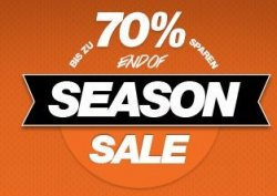 Bis zu 70% Rabatt im End of Season Sale + 5 Euro Gutschein @Planet-Sports