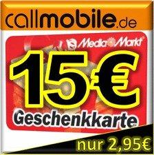 callmobile SIM-Karte mit 10€ Startguthaben und verschiedenen Extras nur 2,95€ z.b. + 15€ Amazon od. 15€ iTunes uvm