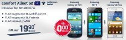 comfort o2 Allnet-Flat inkl. 500MB und Smartphone für 19,90€ monatlich @Handytick