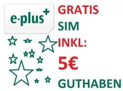 E-Plus Prepaid Karte für 1€ inkl. 5€ Guthaben + 1 Monat Internetflat (3GB) bei eBay