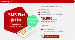 Flat in alle Handynetze + Flat ins Festnetz + Internet Flat mit 500MB + SMS Flatrate für nur 19,90 Euro monatlich