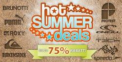 Hot-Summer-Deals – bis zu -75% @Plutosport, T-Shirts für 2€, Schuhe für 13€, Puma Socken für 3€…