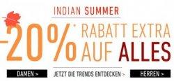 Indian Summer –  20% Extra-Rabatt auf das Sortiment @Dress-for-Less