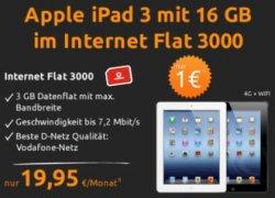 iPad 3 16GB WiFi + 4G für 1€ + 3GB Datenflat im Vodafone-Netz für 19,95€ mtl
