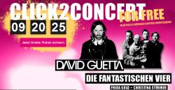 Konzert mit David Guette, Fanta4, Christina Stürmer und Frida Gold kostenlos