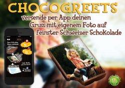 Kostenlos statt 5€: 1 Tafel Schokolade mit eigenem Bild und Gruß für alle iOS-Nutzer