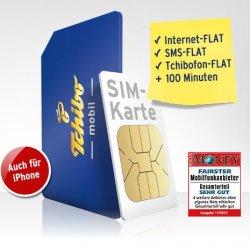 Kostenlose und unbefristete Tchibofon-Flatrate für bis zu fünf SIM-Karten & 300MB Internet-Flatrate für 9,95 € im Monat
