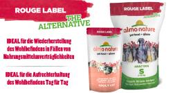 Kostenloses Futterpaket von Almo Nature für Katzen – 12 Portionen zu je 105g oder Hunde 9,5 kg Sack