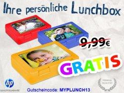 Lunchbox mit eigenem Foto kostenlos (nur 4,95 Euro Versand)