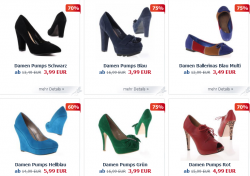 Mega Sale bei Ital-Design – Ballerinas, Pumps und High Heels ab 3,49 Euro