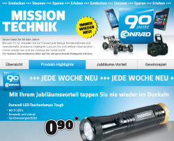 Mission Technik bei Conrad z.B. Duracell LED-Taschenlampe für 0,90 Euro