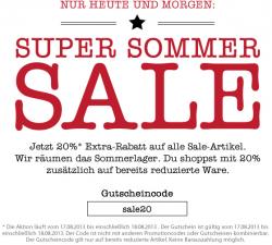 Mustang Sale + 20% Gutscheincode @mustang-jeans.de