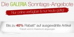 Neue Sonntags-Highlights bei Galeria Kaufhof u.a. 40% Rabatt auf ESPRIT- und Tom Tailor-Artikel