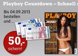 Playboy Jahresabo für effektiv 16€ dank 50€ Verrechnungsscheck @playboy-abo.de