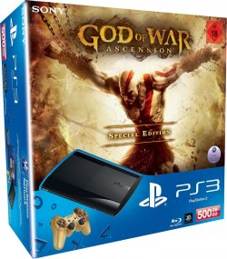 PlayStation 3 Super Slim 500 GB in der God of War Ascension Special Edition 199 Euro inkl. Versand (Idealo:268,95 Euro) bei amazon