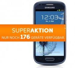 Samsung S3 mini mit All-Net Flat für 1€ + 19,90€/M (1. Monat gratis!) – begrenze 200Stk. – Simyo Aktion