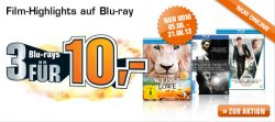 Saturn Sommeraktion: 3 Blu-ray´s für 10€