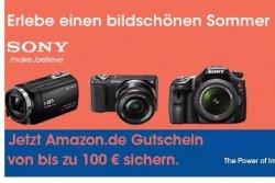 Sony Kamera oder Camcorder kaufen und bis zu 100,- Euro Amazon-Gutschein abstauben @Amazon.de
