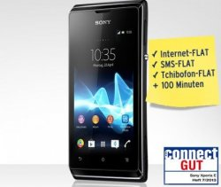 Sony Xperia E,incl SIM-Karte + Kopfhöhrer gratis für 89 € dank 10 €-Gutschein @Tchibo.de