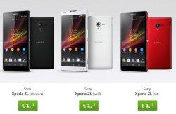 Sony Xperia ZL + 3-Fachflat (Flat4u) für 15,95€ pro Monat @sparhandy.de