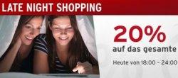 Tchibo.de Late Night Shopping – 20% auf das gesamte Sortiment – nur heute von 18-24 Uhr