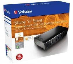 VERBATIM Externe Festplatte Store n Save – USB 3.0, 3TB für 87,87€ + 6,99€ Versand + 5% Gutschein @Pixmania