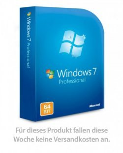 Windows 7 Professional 32-/64-Bit für 24,80€ (inkl. 4€ Gutschein & 8,90€ Versand) @PCFritz