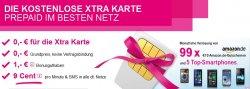 Xtra Karte von der Telekom gratis mit 1€ Guthaben @t-mobile