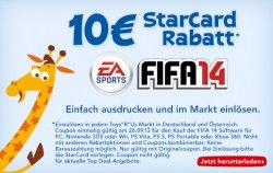 [Lokal für die Toys`R`Us Fillalen] 10 € Rabatt beim Kauf vom Spiel FIFA 14